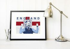 #FOOTBALL #WORLDCUP #GARETHSOUTHGATE #ITSCOMING HOME #ENGLAND #WEBELIEVE   This hand drawn original pop art design by British pop artist Leanne Warren is dedicated to our favourite waistcoat wearing national hero... Gareth Southgate. This England football Limited Edition print would make a great gift for football lovers. #worldcup #garethsouthgate #england #england2018 #worldcup2018 #football #footballgift #sport #england #westillbelieve #itscominghome