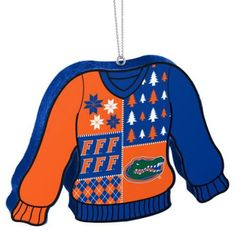 Florida Gators Official Ncaa 5.5 inch Foam Ugly Sweater Christmas Ornament by Forever Collectibles, Multicolor