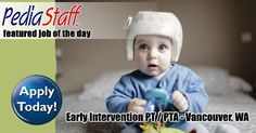 Hot Jobs! Pediatric Clinic PT/PTA – Vancouver, WA - pinned by @PediaStaff – Please Visit ht.ly/63sNtfor all our pediatric therapy pins