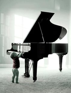 Toddler and Grand Piano