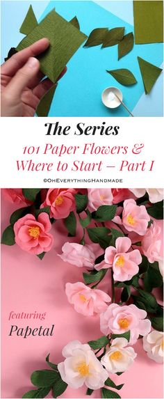 "Hi there, I have an amazing post for you today! I collaborated with ""THE BEST"" paper flower smiths t How To Make Paper Flowers, Paper Flowers Craft, Flower Crafts, Diy Flowers, Fabric Flowers, Paper Crafts, Tissue Paper Flowers, Paper Roses, Diy Fleur"