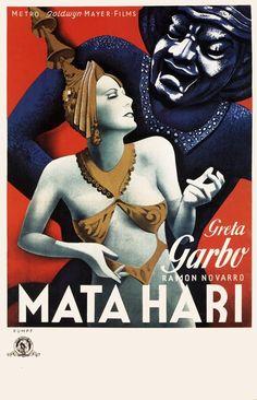 Movie poster, Mata Hari (1931), starring Greta Garbo