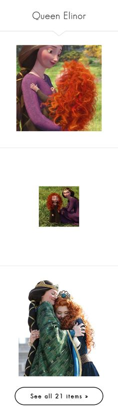 """""""Queen Elinor"""" by bambolinadicarta-1 ❤ liked on Polyvore featuring disney, merida, Disneyprincess, QueenElinor, thebrave, home, children's room, brave, characters and backgrounds"""