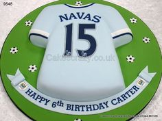 Manchester City Football Shirt Cake Superbia in Proelio. Football Cakes For Boys, Football Birthday, Soccer Cakes, Cupcakes, Cupcake Cookies, 9th Birthday Cake, Happy Birthday, City Cake, Dad Cake