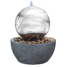 Pour une déco zen, optez pour la fontaine en inox Astanga, avec sa LED et ses galets blancs ! http://www.amenager-ma-maison.com/fontaine-inox-astanga-PR-107.html