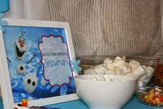 """Frozen party-""""do you want to build a snowman"""" station"""