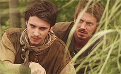 Pumping air in to the bamboo pipe. < you can see how frustrated Will is with Allan in this gif