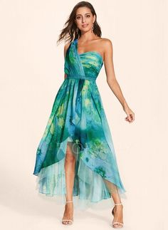 Color Block Oblique Neckline Sleeveless Maxi X-line, Dress Floryday Dresses, Prom Dresses Blue, Women's Fashion Dresses, Dresses For Sale, Strapless Dress Formal, Short Dresses, Summer Dresses, Dresses Online, Affordable Prom Dresses