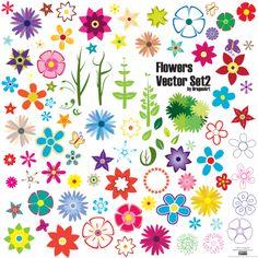 Free flower vector designs