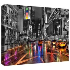 'NYC' by Revolver Ocelot Graphic Art on Wrapped Canvas