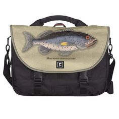 "Vintage Print ""Bahama Rock Fish"" Commuter Bag"