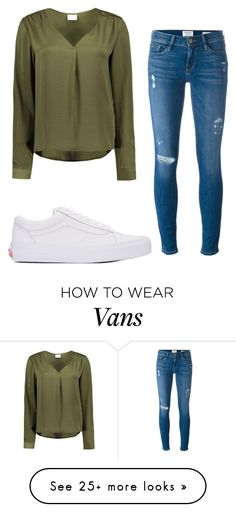 """OH MY GOSHHHH"" by annayalee-gerber on Polyvore featuring VILA, Frame and Vans"