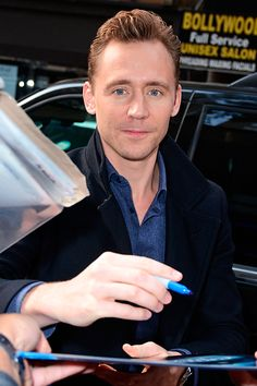 Tom Hiddleston at the NBC Rockefeller Center Studios for the 'Today Show' taping on October 14, 2015 in New York.