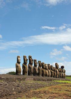 Experience the Moai of Easter Island, off the coast of Chile.
