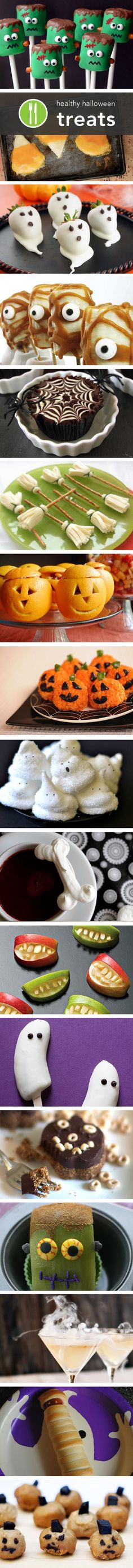 More healthy Halloween treat ideas, so cute the kids will never even know it is…