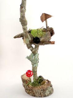 Faerie Mailbox, Faerie Furniture, Fairy Garden Accessory,  Doll House Mailbox, Faerie House. $16.00, via Etsy.