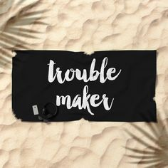 Trouble Maker Beach Towel by Ines Leonardo | Society6