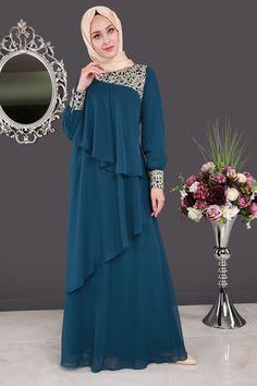 ** YENİ SEZON ** Brode Dantelli Verev Kesim Abiye İndigo Ürün Kodu: ALM3003 --> 119.90 TL Batik Fashion, Abaya Fashion, Muslim Fashion, Modest Fashion, Fashion Dresses, Hijab Style Dress, Chic Dress, Muslimah Clothing, Abaya Designs