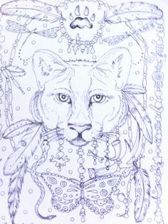 COLORING BOOK Animal Spirits Coloring Book pour par ChubbyMermaid