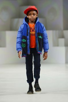 Fashion designer Kenzo´s main highlight for his winter collection presented at the Global Kids Fashion Week 2013 is a colourful ensemble for boys.