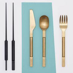 """Maarten Baas and Koichi Futatsumata design """"quirky high-end"""" cutlery collections"""