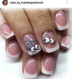 New nails design french manicure shape 67 ideas Animal Nail Designs, Animal Nail Art, New Nail Designs, French Nail Designs, Stylish Nails, Trendy Nails, French Tip Nails, Fancy Nails, Nail Art Hacks