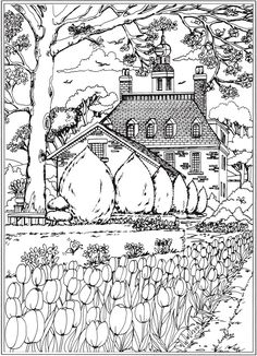 Welcome to Dover Publications;  Creative Haven Spring Scenes Coloring Book