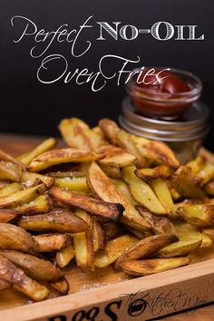 Indulge in your favorite potato treat GUILT FREE with my Perfect No-Oil Oven Fries. - i would make sure the flour is FOK compliant, and switch salt for salt substitute Plant Based Whole Foods, Plant Based Eating, Whole Food Recipes, Vegan Recipes, Cooking Recipes, Fat Free Recipes, Quick Recipes, Mcdougall Recipes, Seasoned Fries