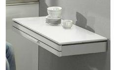 Mesa de pared para cocina Single Duo, en un bonito acabado blanco.
