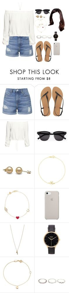 """IT (day/home)"" by ittgirl ❤ liked on Polyvore featuring Topshop, ASOS, H&M, Yves Saint Laurent, Jennifer Meyer Jewelry, Alison Lou, Minor Obsessions, Nixon and Estella Bartlett"