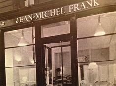 Jean-Michel Frank front shop, 140 rue du Faubourg St Honore, Paris, c 1935