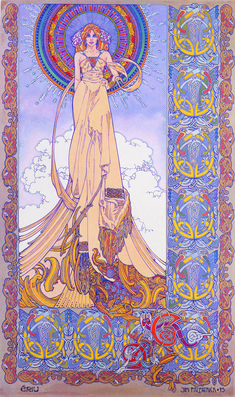 My favourite ever work by Jim Fitzpatrick. ERIU by Jim Fitzpatrick, sought after Celtic artist, (his works have graced many covers by the likes of Thin Lizzy / Rory Galagher etc) from his celebrated CELTIA series of beautiful and romantic posters from Celtic Art, Irish Celtic, Celtic Dragon, Fantasy Kunst, Fantasy Art, Jim Fitzpatrick, Vikings, Art Nouveau, Original Artwork