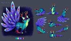This was my submission for the Character Design Challenge this month, Alebrije Creature Chico. She is a hybrid between peacock, cat and deer. The submissions are mostly illustrative character designs, so I wanted to do a Character Design as I would do for Fantasy Character, Cat Character, Character Design Animation, Character Design References, Lucas Arts, Mexico Art, Quiz, Amazing Drawings, Creature Design