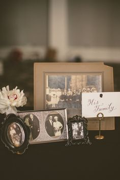 family photo display with easy signage | Nessa K Photography #wedding