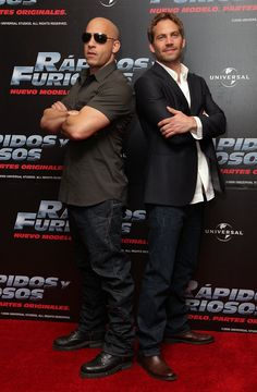 Pin for Later: Paul Walker's Memorable Hollywood Moments  Paul Walker and Vin Diesel posed back to back during a Fast & Furious press conference in Mexico City back in March 2009.