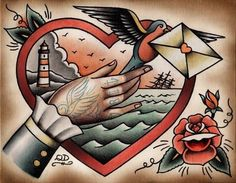 traditional style tattoo flash // Quyen Dinh