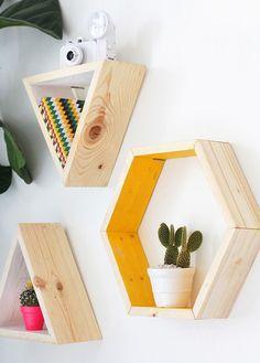70 Ideas diy decoracion paredes room decor for 2019 Diy Room Decor, Bedroom Decor, Wall Decor, Home Decor, Bedroom Ideas, Wall Art, Wood Furniture, Furniture Design, Geometric Furniture