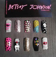 Betsey Johnson nail art = for Sarah Super Cute Nails, Pretty Nails, Mani Pedi, Manicure, Crazy Nail Art, Nail Games, Beautiful Nail Designs, Halloween Nails, Diy Beauty