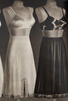 1940s Lingerie  Bra, Girdle, Slips, Underwear History. 1940s half slips  #1940sfashion #lingerie #vintage