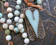 Dainty heart necklace XO soldered pendant by 3DivasStudio