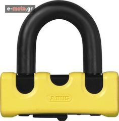 Alexopoulos Motorcycle Parts and Accessories: Abus Locks Granit Power XS 67 Bikes Direct, Powerful Names, Double Lock, Motorcycle Parts And Accessories, Car Parking, Locks, Things To Sell, Yellow