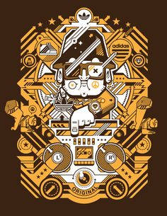 Junichi Tsuneoka was born and raised in Japan and, upon graduating Waseda University in Tokyo, arrived in the US at the end of the Century. After five years as a graphic desi Graphic Design Illustration, Illustration Art, Illustrations, New T Shirt Design, Sneaker Art, Sticker Design, Design Art, Iphone Wallpaper, Cool Art