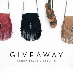 GIVEAWAY! Weve partnered with @LuckyBrand to give one LUCKY winner these springtime must-haves. Were pretty obsessed with these fringe bags and sandals ourselves. HOW TO ENTER: - Follow @LuckyBrand and @Darling - Like this photo & tag 3 friends below (only 1 friend per comment!) - Well select the winner on 3/27 and will contact via DM Happy entering! #MyLuckyBrand  via DARLING MAGAZINE OFFICIAL INSTAGRAM - Fashion Campaigns  Culture  Advertising  Editorial Photography  Magazine Cover Designs…