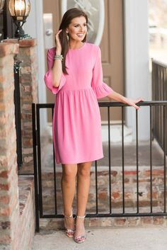 Dreaming Of The Day Dress, Pink - The Mint Julep Boutique