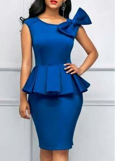 Cheap blue Dresses online for sale Simple Dresses, Elegant Dresses, Pretty Dresses, Sexy Dresses, Casual Dresses, Short Sleeve Dresses, Peplum Dresses, Cheap Dresses, Blue Dresses