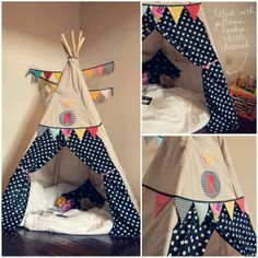 DIY Tepee (great reading nook!)... for the kids