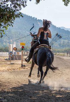 Mounted archery