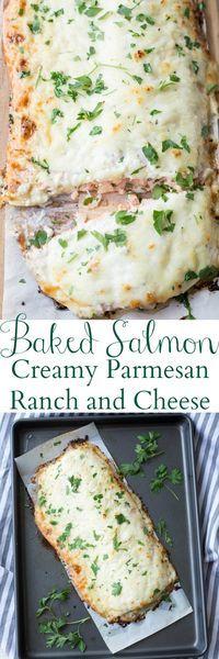 Baked Salmon with Ranch & Cheese Recipe. ValentinasCorner.com