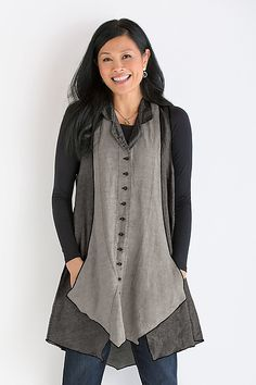 Balsa Vest by Cynthia Ashby: Linen Vest available at www.artfulhome.com