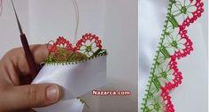 sirali-orumcekli-tig-oyasi-anlatimli-model Plant Hanger, Floral, Flowers, Honey, Tejidos, Needlepoint, Bebe, Royal Icing Flowers, Flower